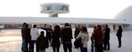 Vista del Centro Cultural Internacional de Avilés, Obra de Oscar Neimeyer