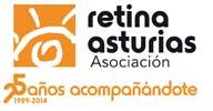 Logo de la asociación Retina Asturias 25 años