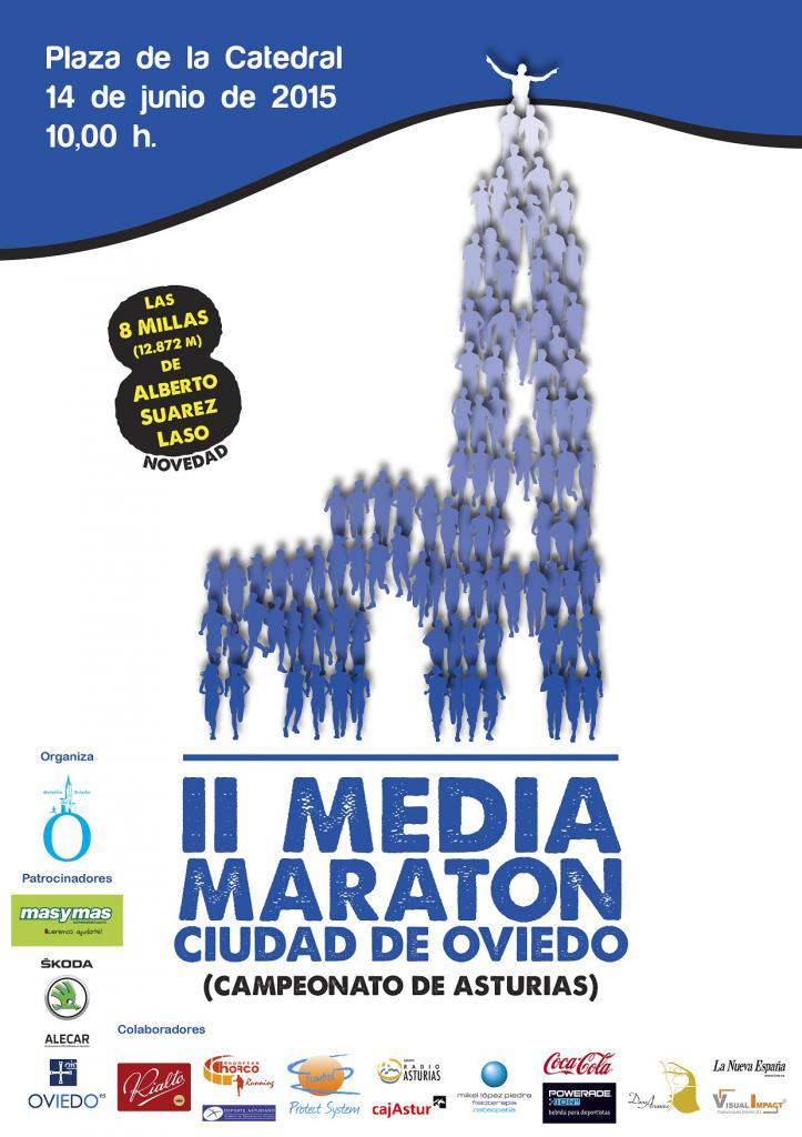 Cartel de la Media Maratón Ciudad de Oviedo