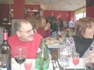Socios en la comida de navidad de 2006
