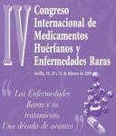 Cartel del IV Congreso Internacional de Medicamentos Huérfanos y Enfermedades Raras.
