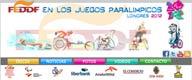 Logo de la FEDDF en los Juegos Paralimpicos de Londres 2012
