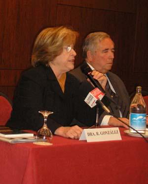 Dra. Roser González Duarte y Joaquin Lopez