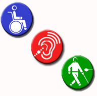 Logotipo de distintos tipos de discapacidad