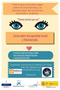 Cartel curso voluntariado Avilés