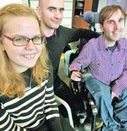 Lotta Lundell y Martyn Sibley, con su asistente, Filipe Roldí£o