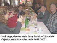 Director de la Obra Social y Cultural Cajastur en la comida tras la Asamblea General de Socios