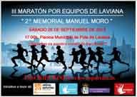 Cartel del III Maratón por equipos de Laviana