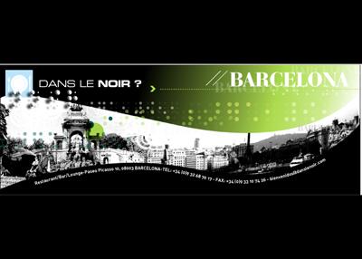 Cartel del restaurante Dans La Noir en Barcelona