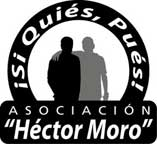 Logotipo de la Asociación Héctor Moro con la leyenda Si Quiés, Pués