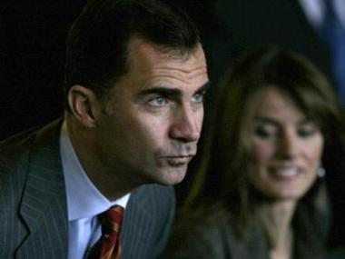 D. Felipe  y Dña Letizia, Príncipes de Asturias