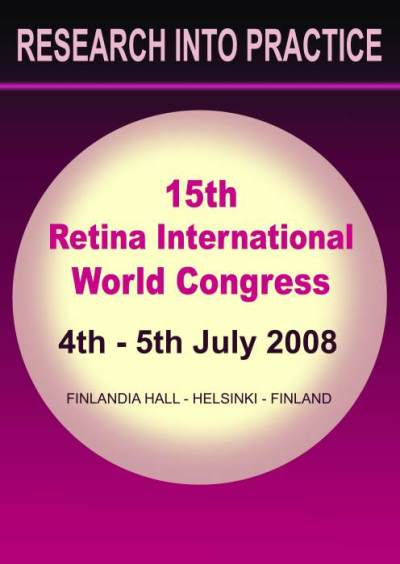 Logotipo del 15 Congreso de Retina International en helsinki 2008