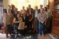 Alcalde de Teror junto a miembros de la Asociación Canaria y de Farpe