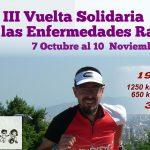 Cartel III Vuelta solidaria con una una imagen de Marcos Bajo