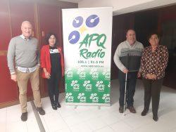 En la imagen podemos ver a nuestro Presidente Andrés Mayor acompañado de Alberto Alonso, Juana Jara y Paquita.
