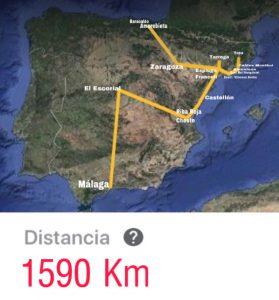 Mapa con el recorrido