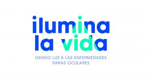 Logotipo campaña ilumina tu vida, dando luz a las enfermedades rara oculares.