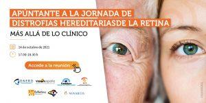 Cartel jornada de distrofias hereditarias de la retina.
